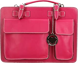 Chicca Borse Bag Cartella Portadocumenti Media in Pelle Made in Italy 34x24x12 cm