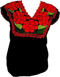 Best black mexican blouse Reviews