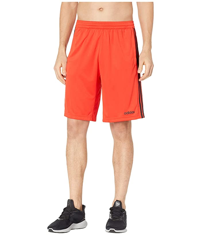 adidas D2M 3-Stripe Shorts (Active Red) Men