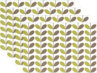 YPink Leaf Plant Pattern Seamless Seamless Pattern Placemats Set Of 4 Heat Insulation Stain Resistant For Dining Table Durable Non-slip Kitchen Table Place Mats