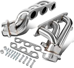 Pair Stainless Steel Shorty Exhaust Manifold Header for Ford Mustang V6 Engine 99-04