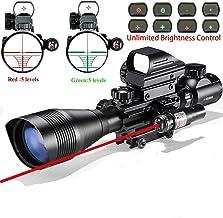 Rifle Scope Combo C4-12x50EG Dual Illuminated with Laser sight 4 Holographic Reticle..