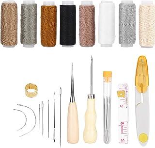 Lederen naaigereedschap, lederen ambachtelijke gereedschapsset lederen naaigaren lederen naaien, voor doe-het-zelf naaien ...