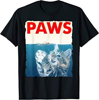 Paws Shirt Funny Cat Parody T-Shirt - Shark Kitten Tee