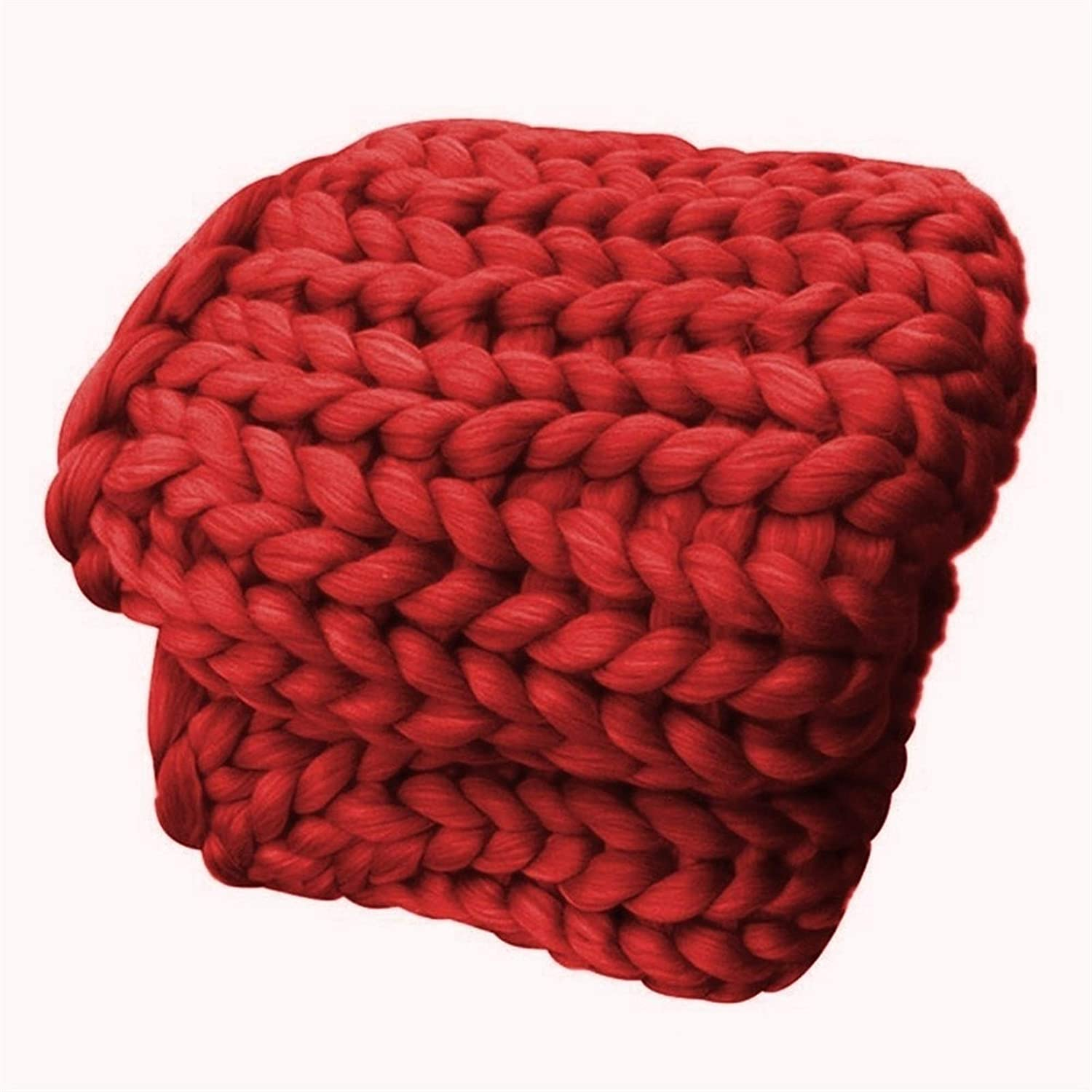 Don't miss the campaign YXYH Chunky Knit Blanket 40% OFF Cheap Sale Warm Deco Knitted Home Yarn for