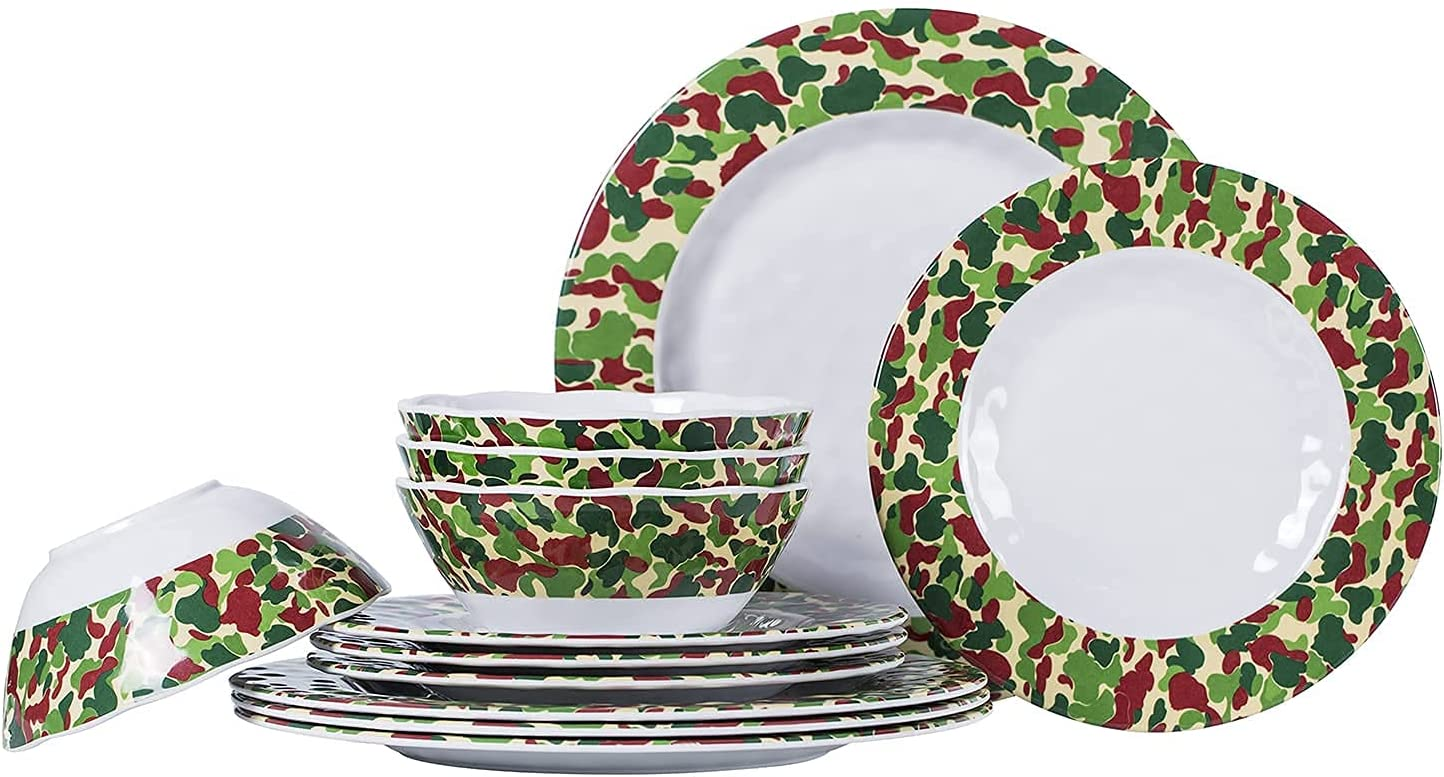 Dinnerware Sets Excellence 12-Piece Unbreakable Bowls Plates and Melamine Sale item
