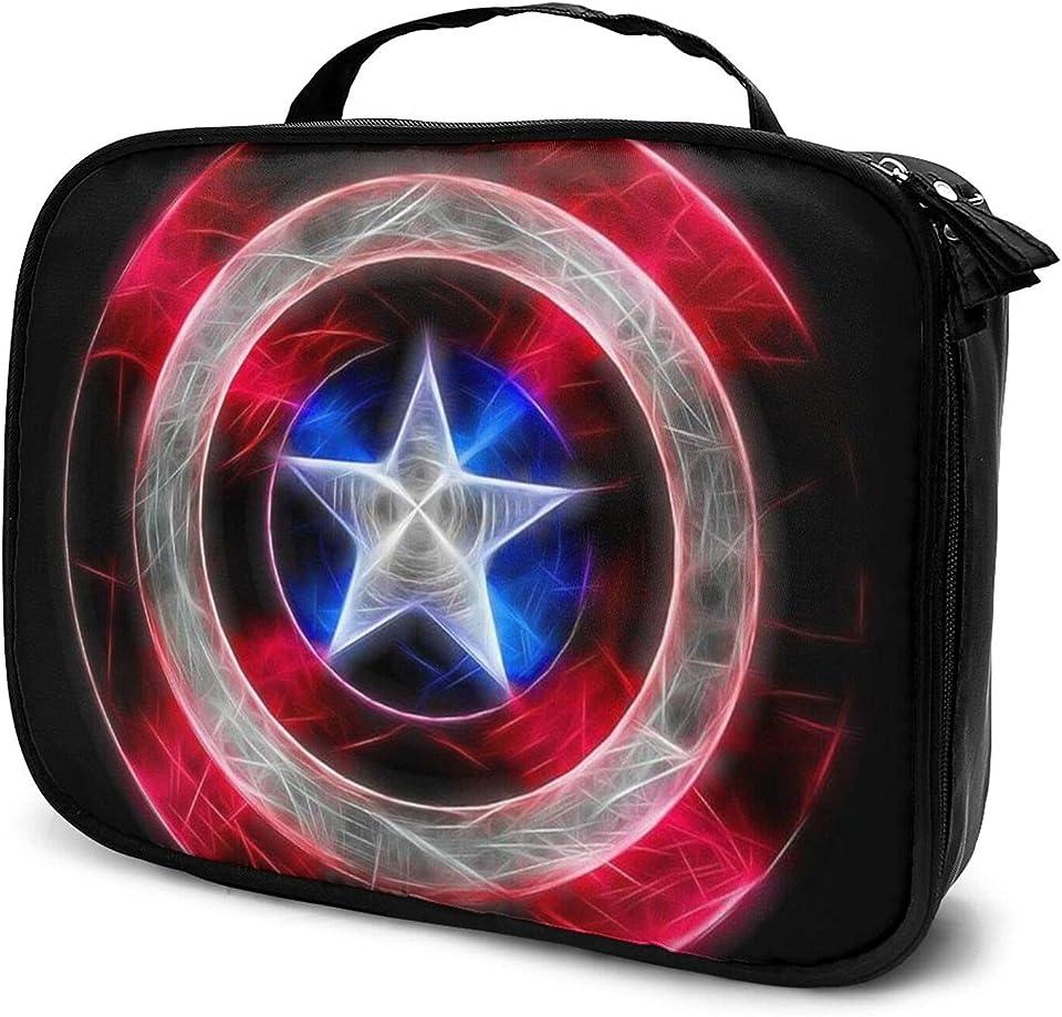 C-aptain America Cosmetic Bag Multipurpose Cosmetics Organizer Lightweight Portable Travel Makeup Case Universal