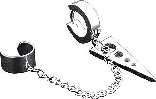 1Pcs Cuff Earring Stainless Steel Ear Cuffs Dangle Chain Earrings Ring Hoop for Men Women Unisex.