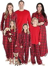 SleepytimePJs Christmas Family Matching Red Plaid Flannel Pajama Sets