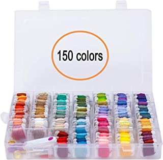 150 Colors Embroidery Floss Cross Stitch Threads-YAOYUE Friendship Bracelet Floss Craft Thread with Organizer Storage Box ...