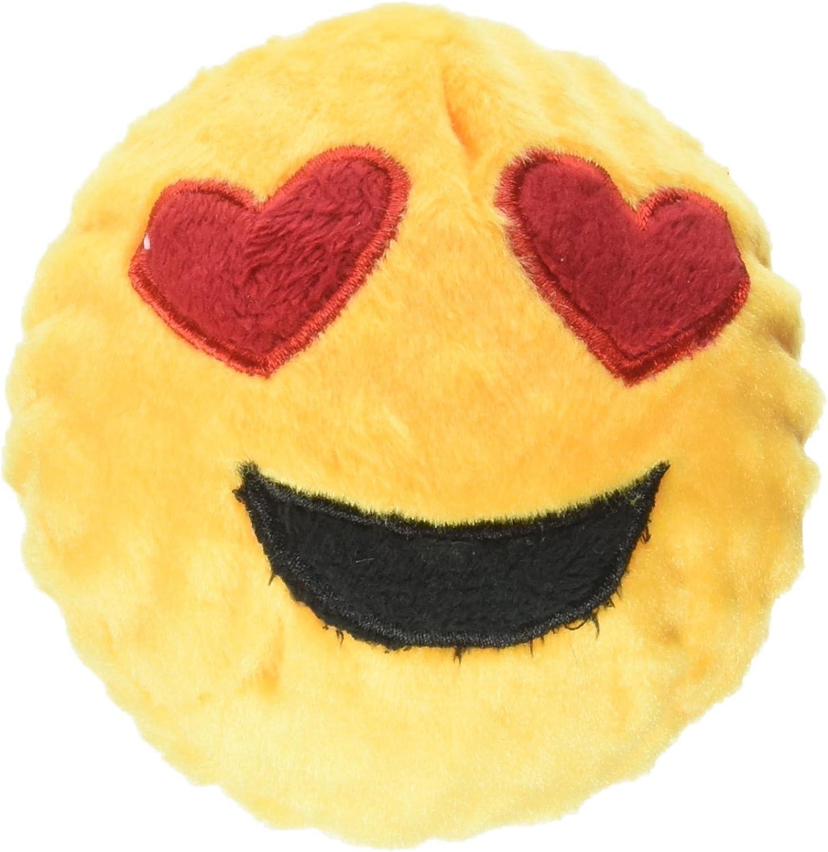 Fab Dog Heart Eyes Emoji Faball Dog Toy, Medium
