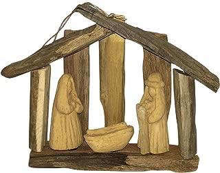 Nativity Scene Natural Driftwood Coastal Christmas Holiday Ornament