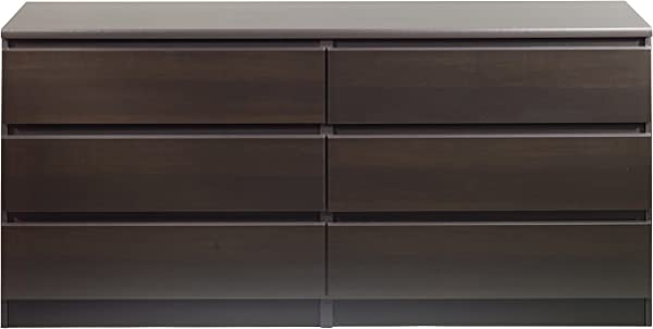 Tvilum 7029620 Scottsdale 6 Drawer Double Dresser Coffee