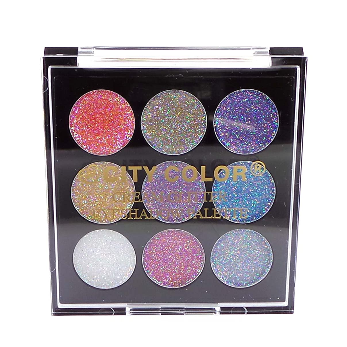 三十機動人種(3 Pack) CITY COLOR Cream Glitter Eyeshadow Palette (並行輸入品)