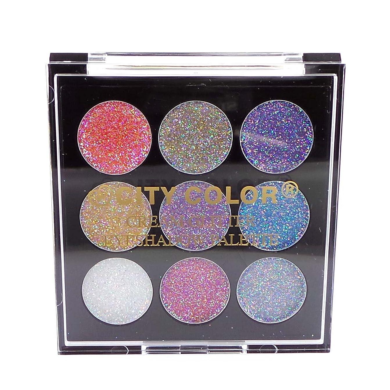白鳥モットージム(3 Pack) CITY COLOR Cream Glitter Eyeshadow Palette (並行輸入品)