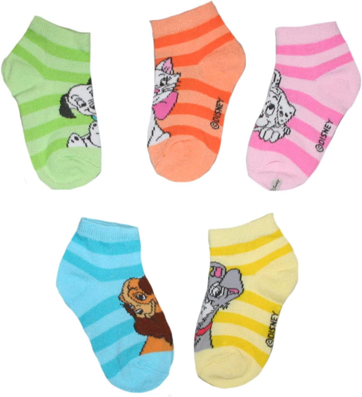 Disney Little Girl's Multi-Character Low Cut Socks - 5 pair