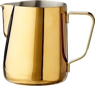Rhino Coffee Gear RHGLD12OZ Milk Pitcher, 12oz, Gold