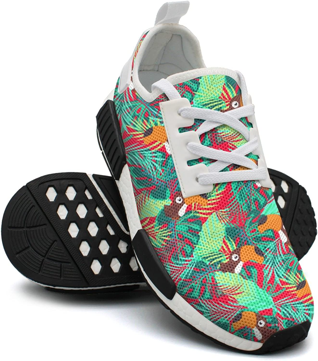 Ktyyuwwww Womens Ladies colorful New Abstract Toco Toucan Funny Design Running shoes