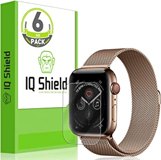 IQ Shield Screen Protector Compatible with Apple Watch Series 4 (44mm)(6-Pack)(Easy Install) Anti-Bubble Clear Film