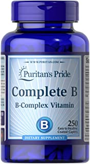 Puritan's Pride Complete B (Complex) for Energy Metabolism**, caplets, by Vitamin B 250 Count 250 Count