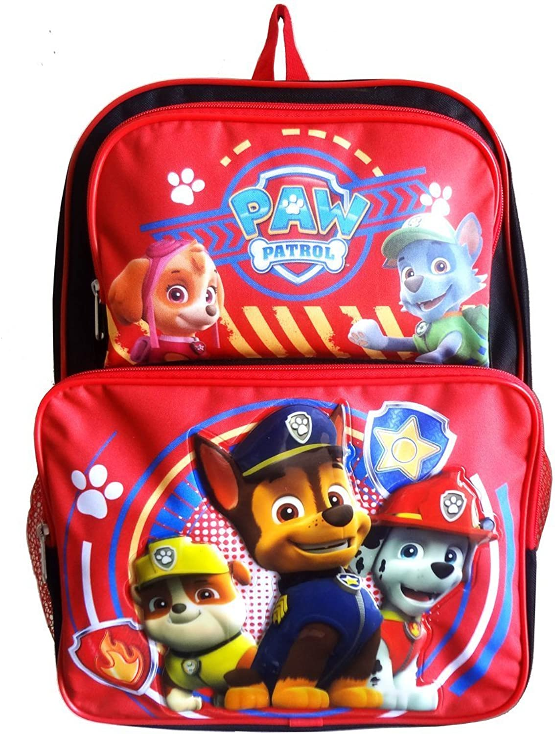 Paw Patrol 16 Cargo School Backpack Bag with Zipper Pocket Pocket Pocket - Chase, Marshall, Skye, Rocky, Rubble B010MQFSRG | Guter Markt