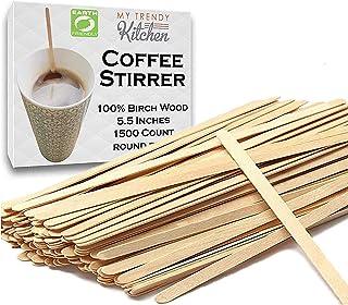 Wooden Coffee Stir Sticks 1500 Count - Eco-Friendly Splinter-Free Birch Wood - Disposable Coffee, Tea, Beverage Mixing Sti...