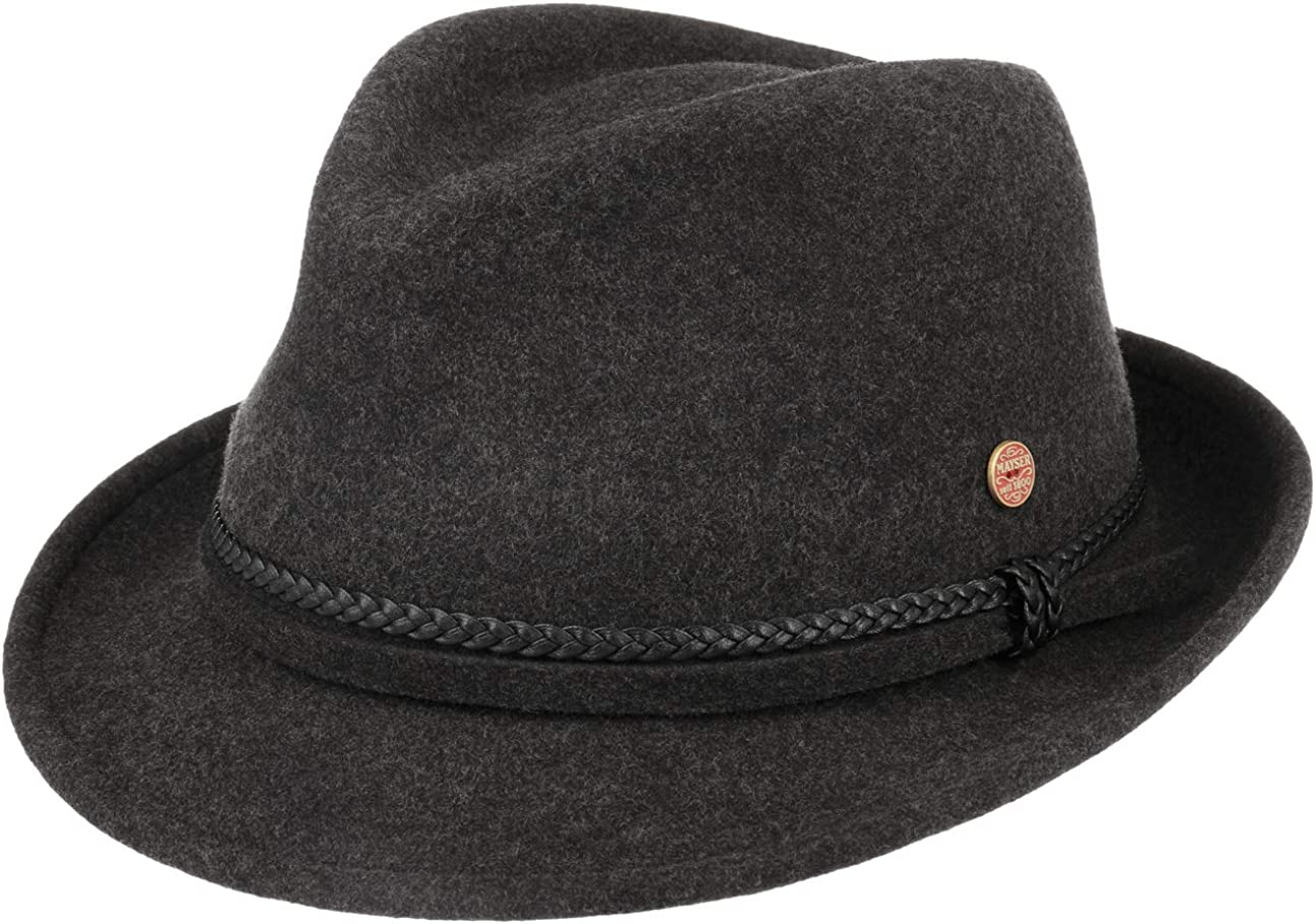 Mayser Ripley Trilby Wool Hat Women The in EU - Made Regular store 55% OFF