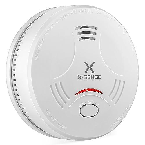 X-Sense SD11 Détecteur de Fumée Certifié EN14604 Autonomie et Garantie 10 Ans Alarme Incendie avec Capteur Photoélectrique (Lot de 1)