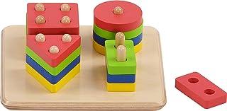 HABA Wooden Sorting Board Geo Game, Multicolor | Mathematics