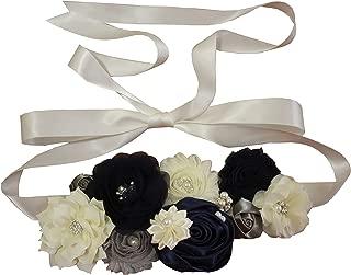 nania maternity pregnancy sash for Mon to be baby shower sash flower sash