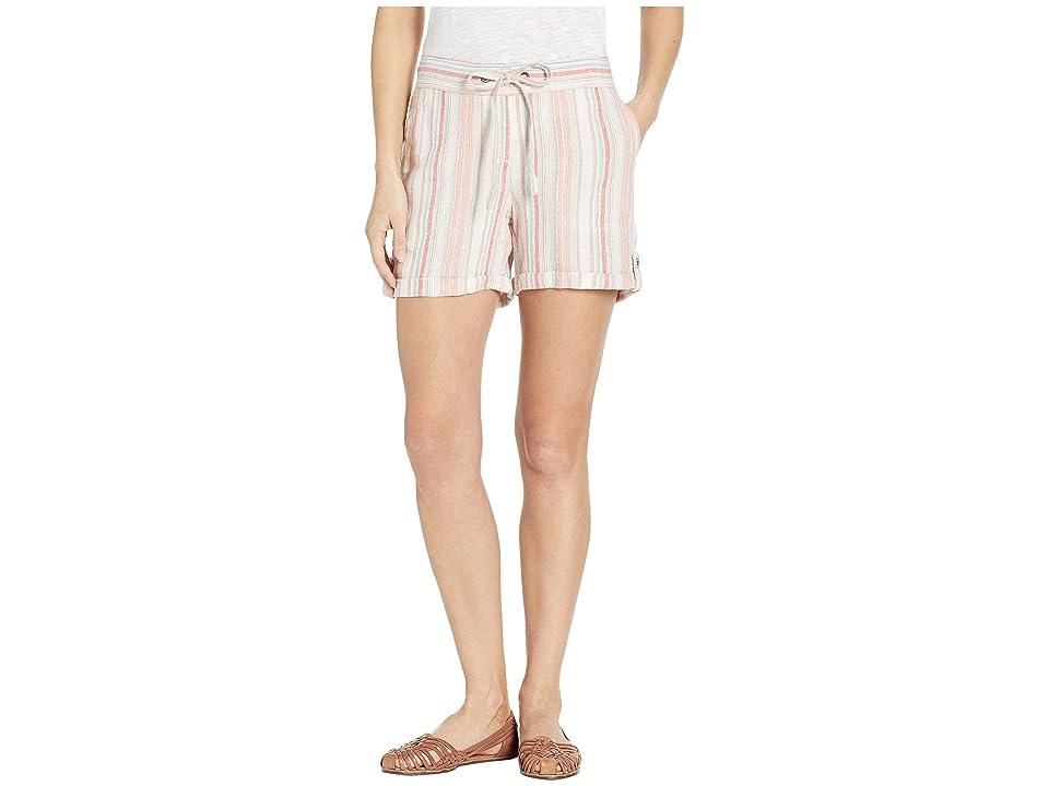 Per Se 5 Linen Tab Roll Shorts (Multi Stripe) Women's Shorts
