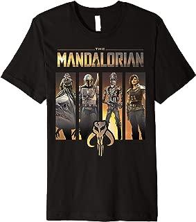 Star Wars The Mandalorian Group Line Up Premium T-Shirt