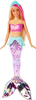 Barbie Dreamtopia Sparkle Lights Mermaid Doll with Swimming Motion and Underwater Light Shows, Approx 12-Inch with Pink-St...
