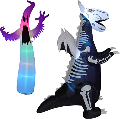 high quality Twinkle Star Halloween Inflatable 12FT new arrival Ghost | wholesale 8ft Inflatable Lighted Skeleton Dinosaur outlet online sale