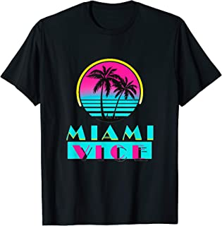 Vintage Miami Florida Cityscape Retro Graphic T-Shirt