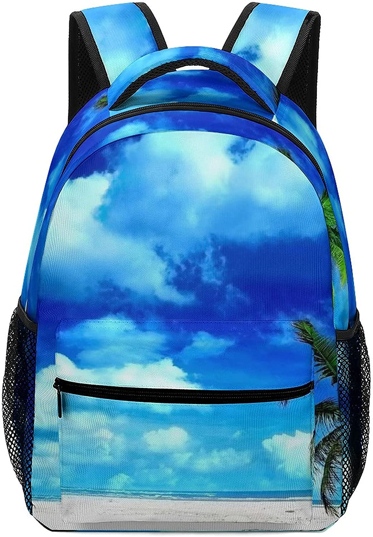 Beach Palm Tree Kid Backpacks 12.2×5.9×16.5 Ranking TOP10 inch School Max 61% OFF Bookbags