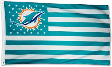 WHGJ Miami Dolphins NFL 3x5 FT Flag Super Bowl Stars and Stripes Indoor/Outdoor Sports Banner