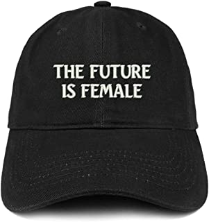 Trendy Apparel Shop The Future is Female Embroidered Low Profile Adjustable Cap Dad Hat