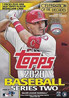 2020 Topps Baseball Series #2 Unopened Blaster Box of Packs with 99 Cards Including One EXCLUSIVE Medallion COIN Card