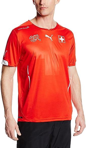 Amazon.com: Puma Men's Switzerland Home Soccer Jersey, Puma Red ...
