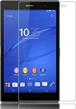[2 Packs] Sony Xperia Z3 Tablet Compact Screen Protector, 9H Hardness Ultra-Thin Shatterproof Anti-Scratch HD Clear Tempered Glass Screen Protector for 8.0'' Sony Xperia Z3 Tablet Compact