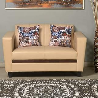 @home By Nilkamal Joy 2 Seater Sofa (Ivory) (FLSFJOY2STRIVORY)