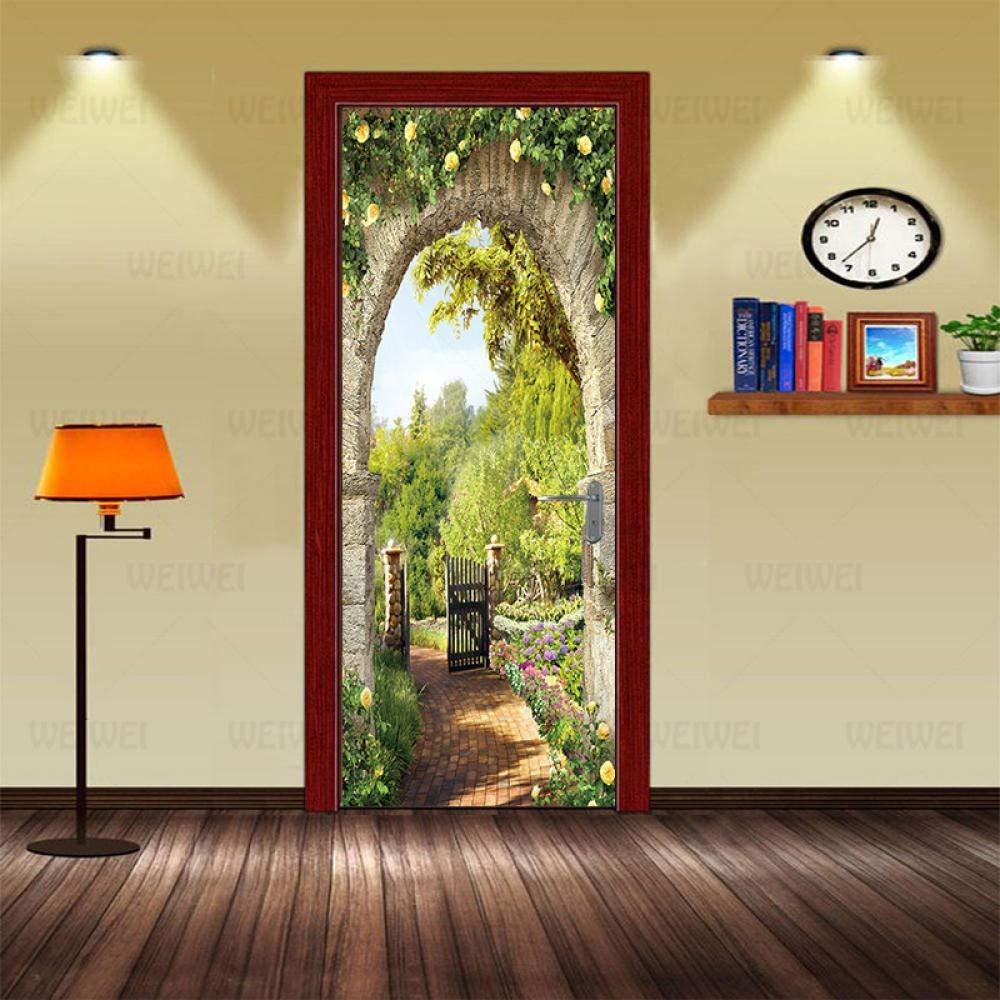 3D Door Murals Peel and Stick Home Wall Wallpaper Sticker Ar High material New Free Shipping DIY