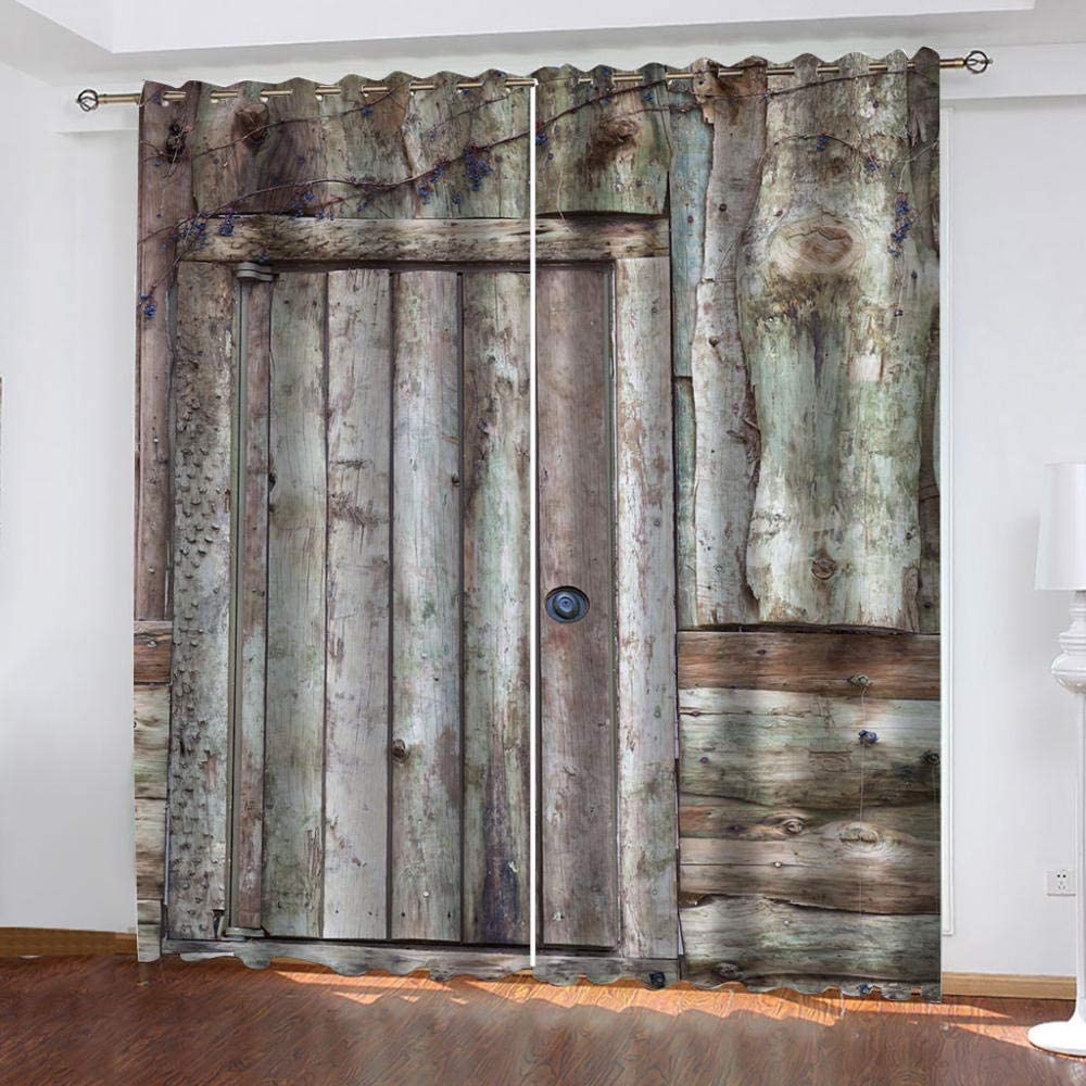 FFFSSS 3D Eyelet Curtain Plank Curtains Inexpensive Blackout Free shipping / New Polyes Image