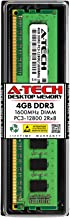 A-Tech 4GB DDR3 1600MHz Desktop Memory Module (1 x 4GB) PC3-12800 Non-ECC Unbuffered DIMM 240-Pin 2Rx8 1.5V Dual Rank Computer RAM Upgrade Stick