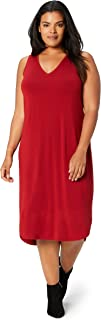 Amazon Brand - Daily Ritual Women's Plus Size Jersey Sleeveless V-Neck Dress