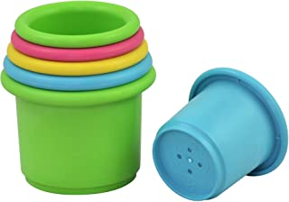 green sprouts Sprout Ware Stacking Cups made from Plants (6 cups) | Encourages whole learning the healthy & natural way | ...