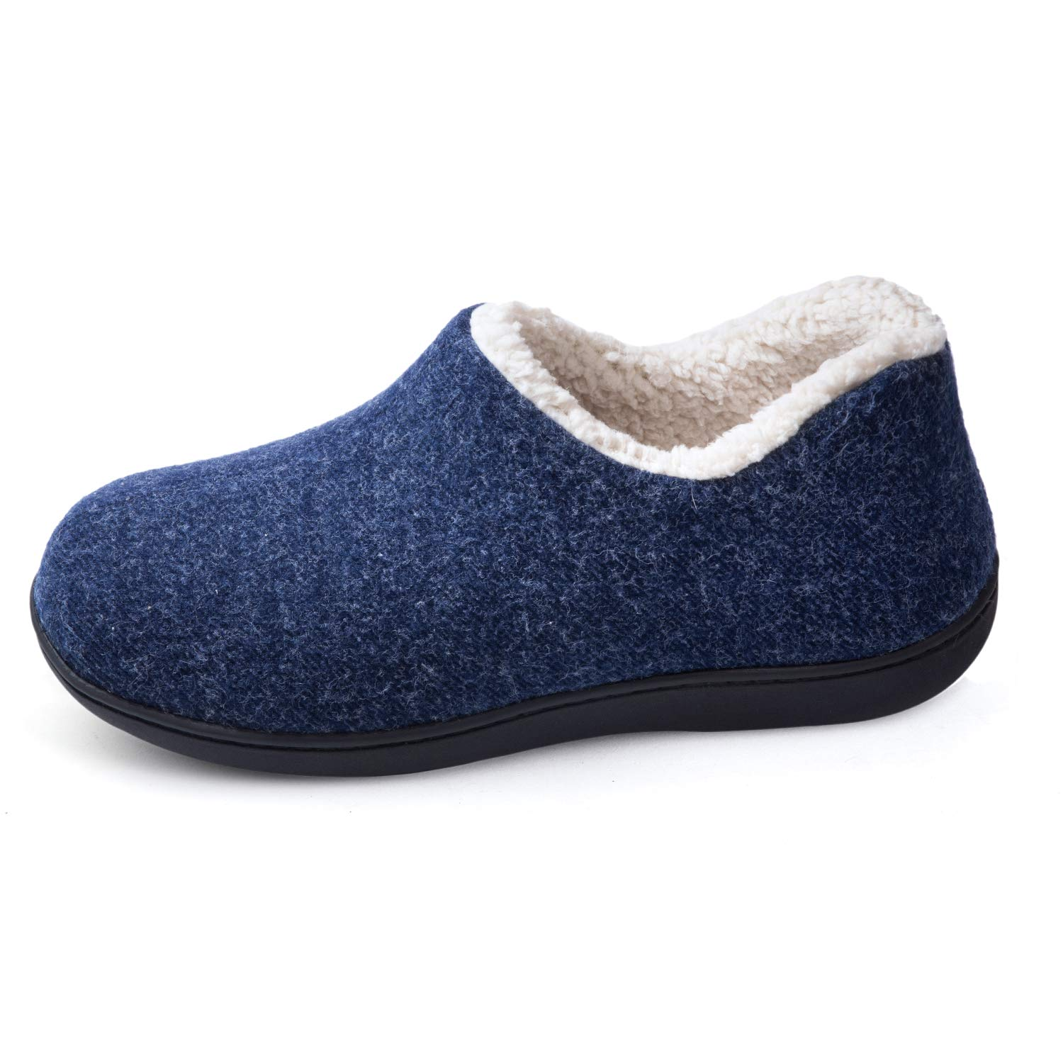 Image of Blue Fleece Lined Women's House Shoes - See More Colors