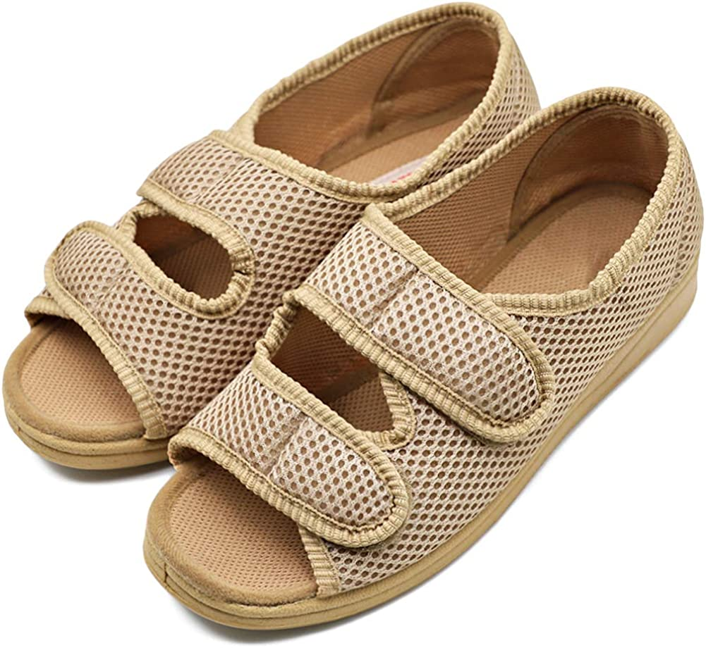 Womens Diabetic Shoes Edema Special sale item Comfortable Extra Open Max 80% OFF Toe Sandal Wi
