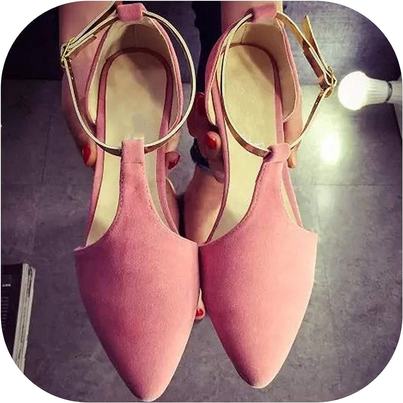 Woman Flats Spring Summer Women shoes T-Strap Women Sandals Suede Comfort Flat